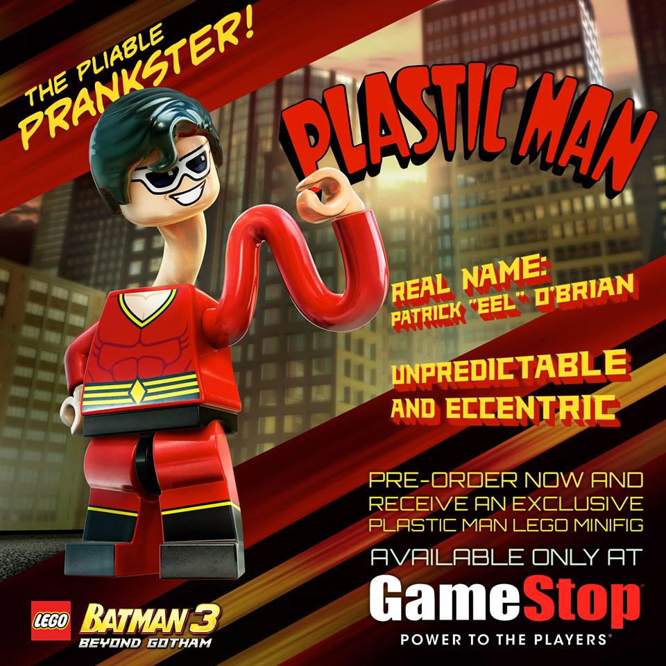 LEGO Batman 3: Beyond Gotham Includes Exclusive Plastic Man