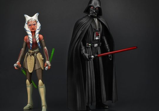 Star Wars The Force Awakens Darth Vader Ahsoka Tano 2 Pack Hasbro 3.75 Rebels Toys & Hobbies TV, Movie & Video Games