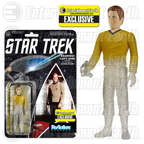 Film, telewizja i gry wideo TOS Beaming Captain Kirk ReAction Figure Star Trek