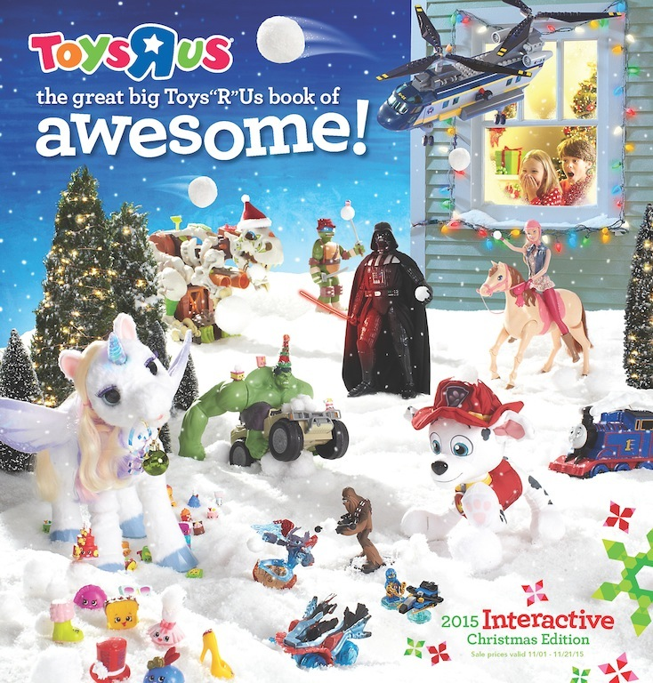 the great big toys r us book of awesome arrives in homes this week featuring an all new interactive experience