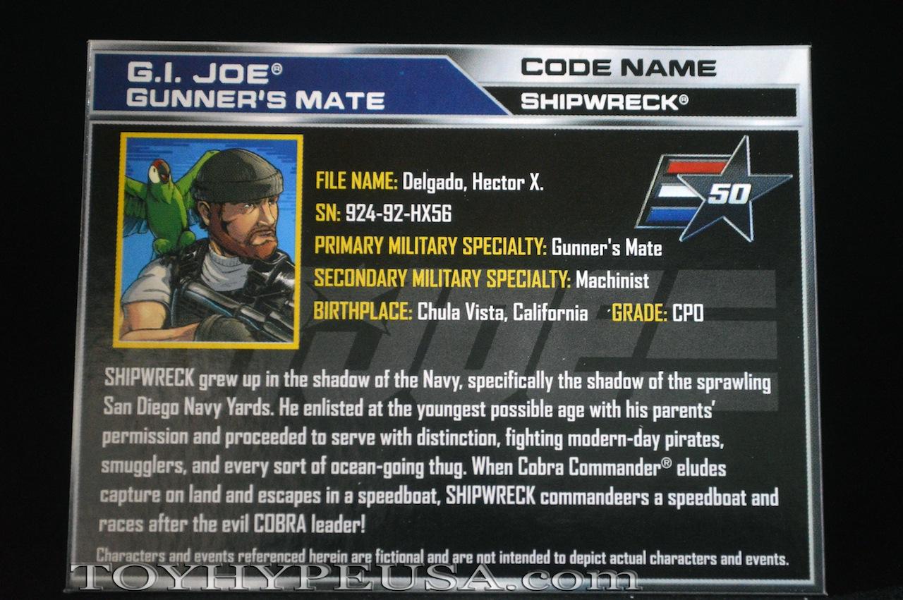 Hasbro G I  Joe 50th Anniversary Shipwreck vs  Cobra