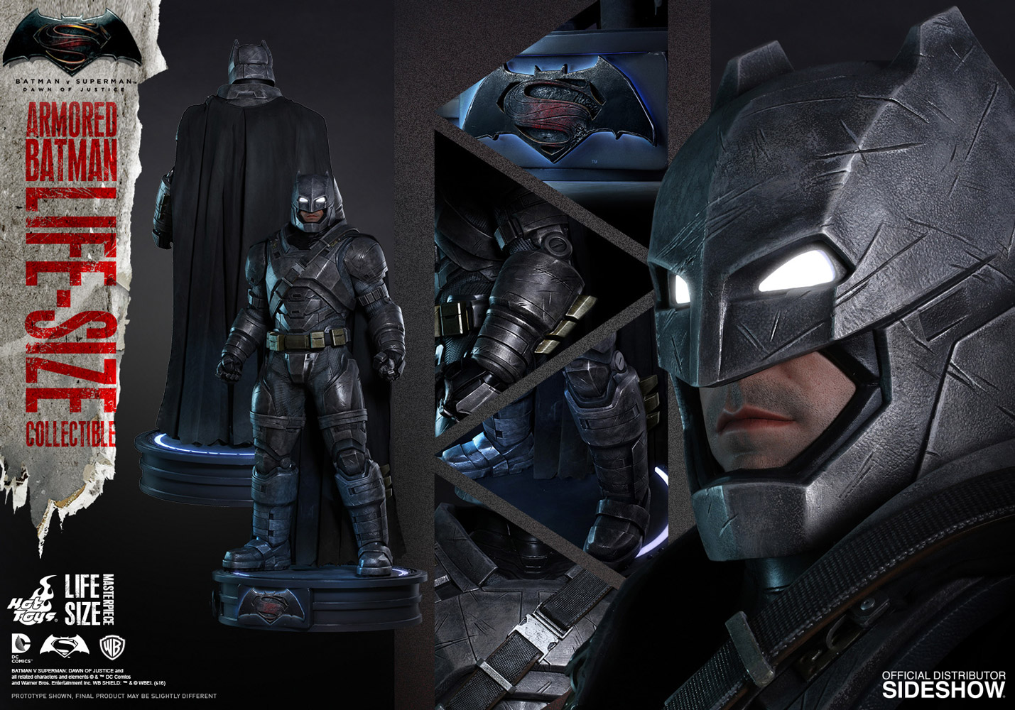 Hot Toys Batman V Superman Dawn Of Justice Armored Life Size Statue Pre Orders