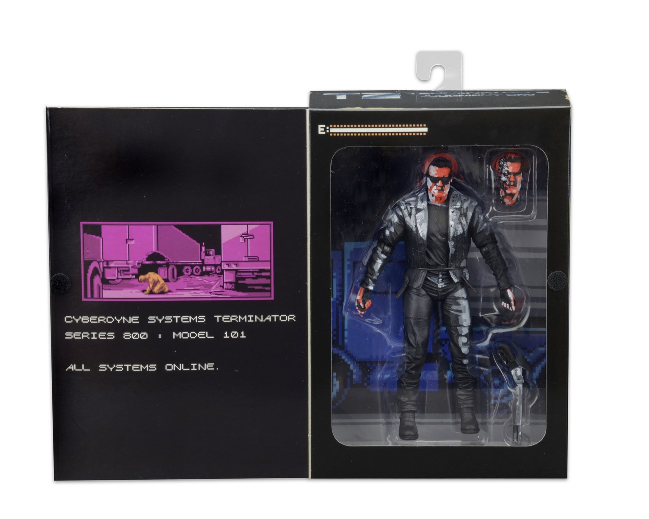 neca toys closer look: t2 classic video game appearance t-800 action