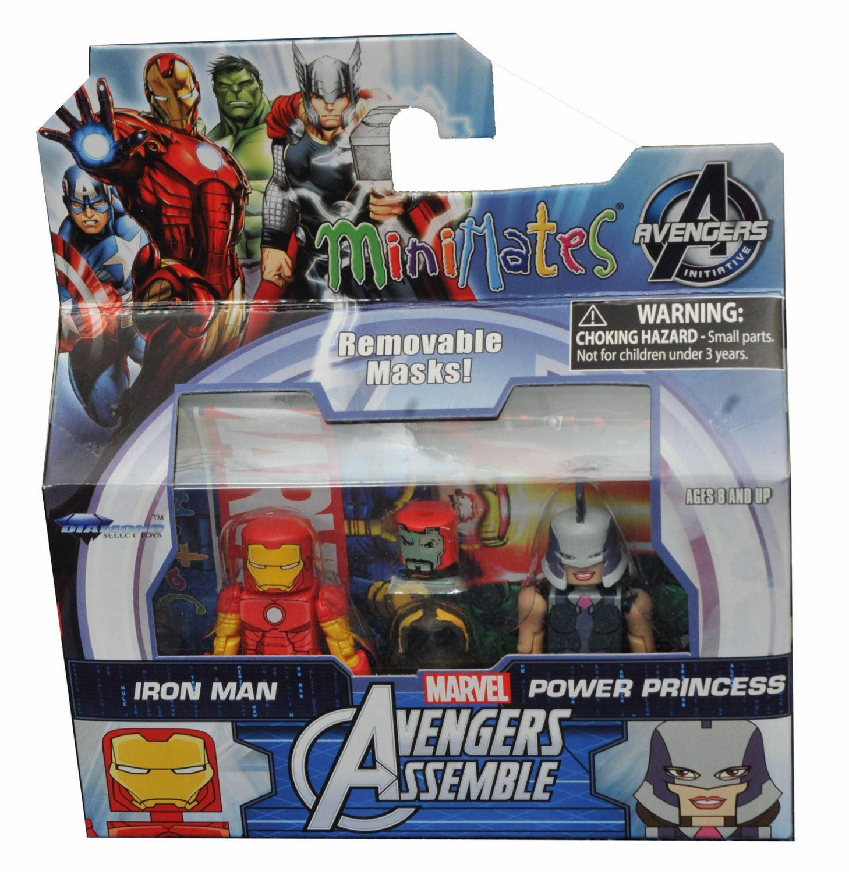 Marvel Minimates Walgreens Wave 2.5 Avengers Assemble Iron Man /& Power Princess