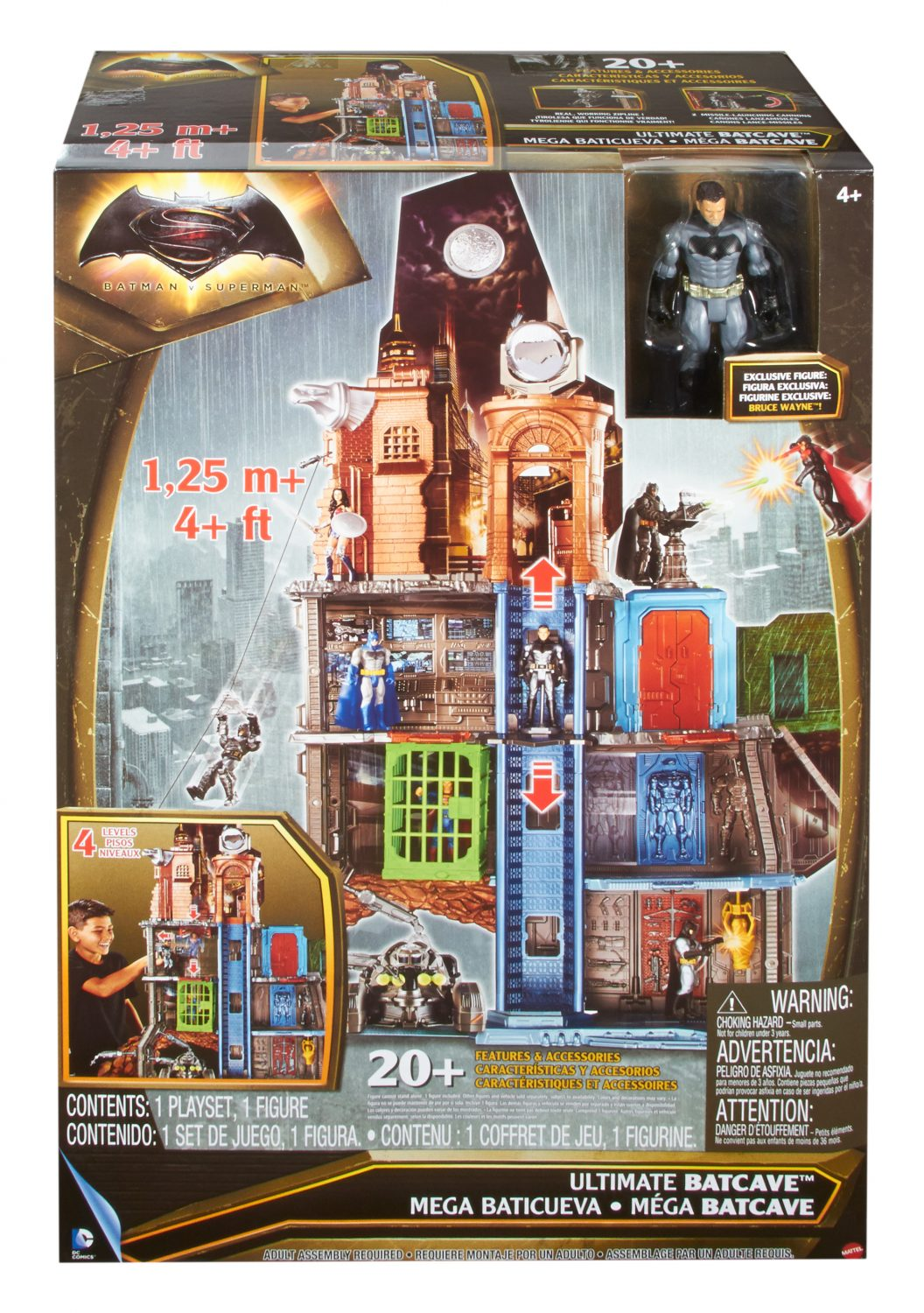 DC Batman v Superman Action Flyer Flying Batman Figure Kids Childrens Toy