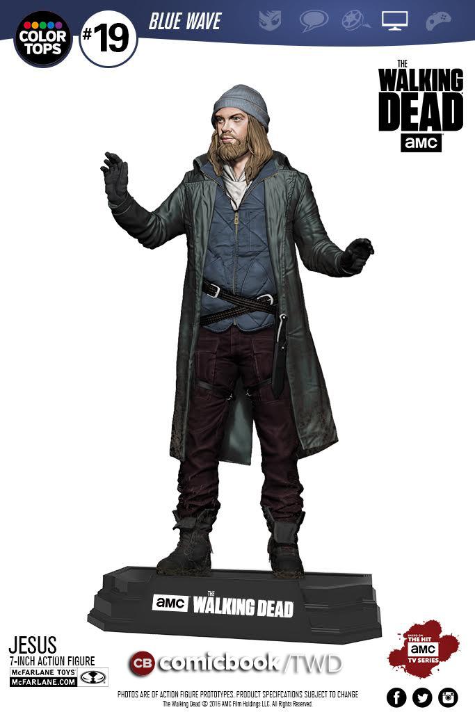 McFarlane Toys Announces The Walking Dead 7″ Color Tops Jesus Figure ...