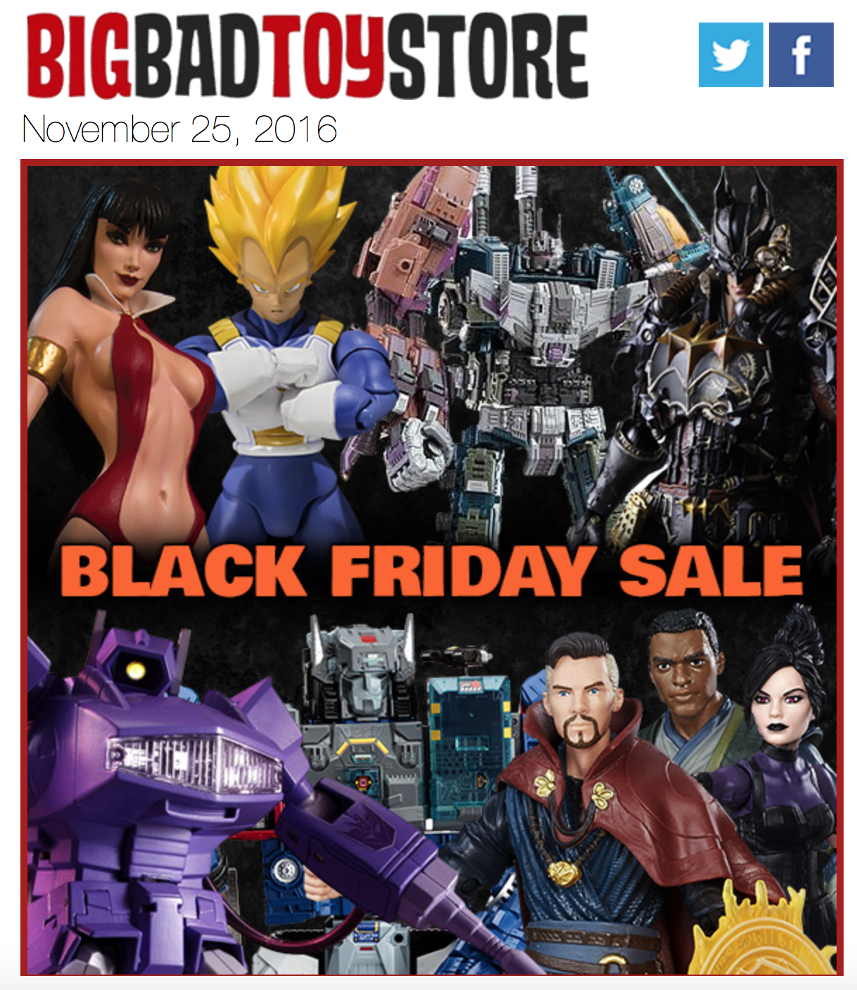 Bigbadtoystore Launches Black Friday Sale Marvel Legends Transformers More Toy Hype Usa