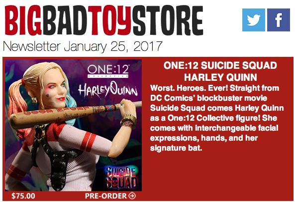 BigBadToyStore: Harley Quinn, Wolverine, Star Wars, Aliens, TMNT