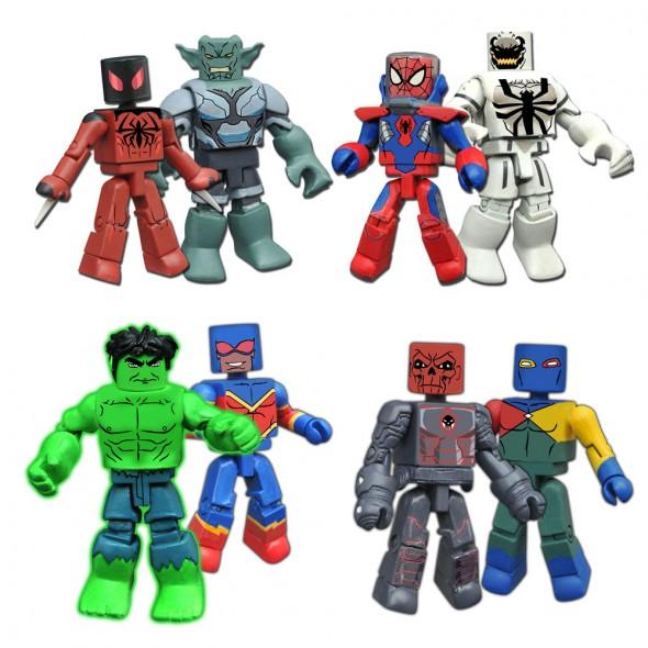 Marvel Minimates Walgreens Wave 3 Avengers Captain America /& Hyperion