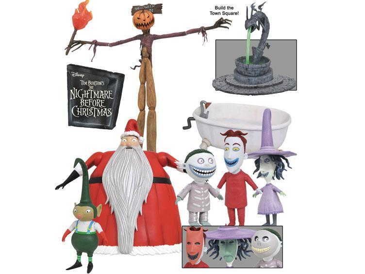 nightmare before christmas select series 3 santa lock shock barrel pumpkin king jack - Nightmare Before Christmas Lock Shock And Barrel