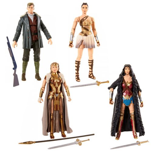 DC Comics Multiverse Wonder Woman Caped Figure with Ares Build a Figure