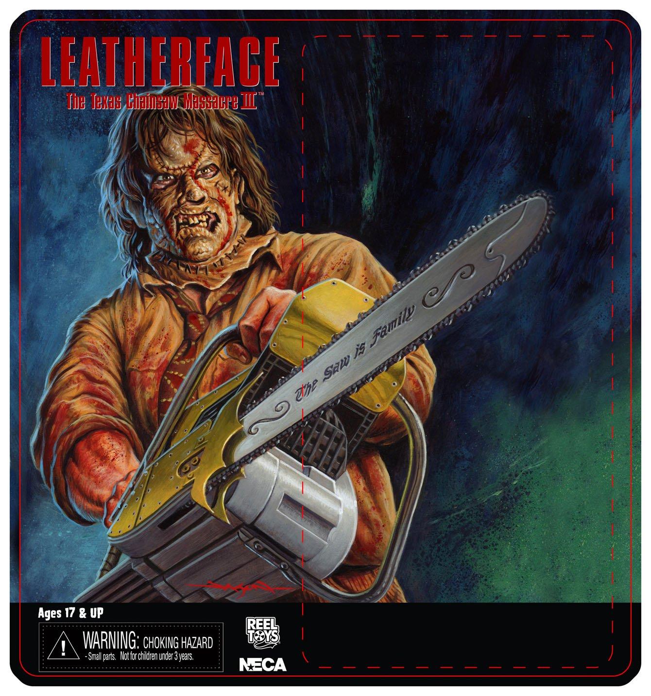 4defea877bf NECA Toys Leatherface  Texas Chainsaw Massacre 3 – 8″ Scale Leatherface  Retro Mego Style Figure Card Art