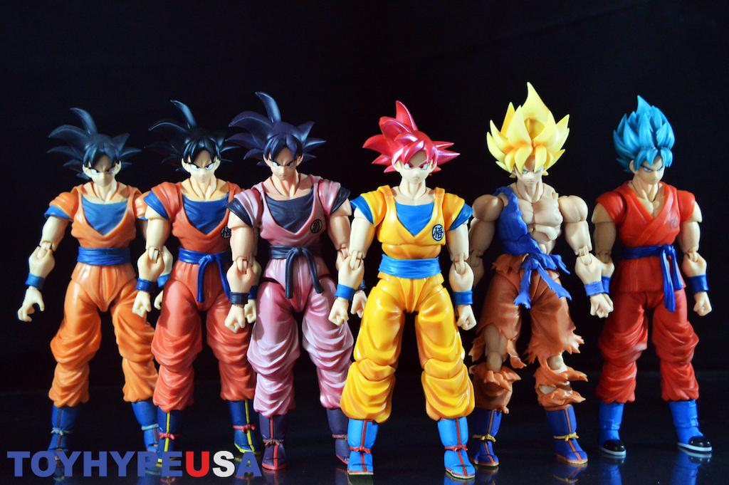Brand New Dragon Ball Z Super Saiyan God Goku Figure Toy