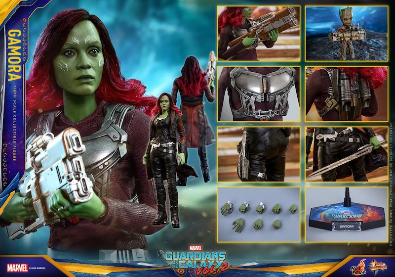 Hot Toys Guardians Of The Galaxy Vol  2 Gamora Sixth Scale Figure