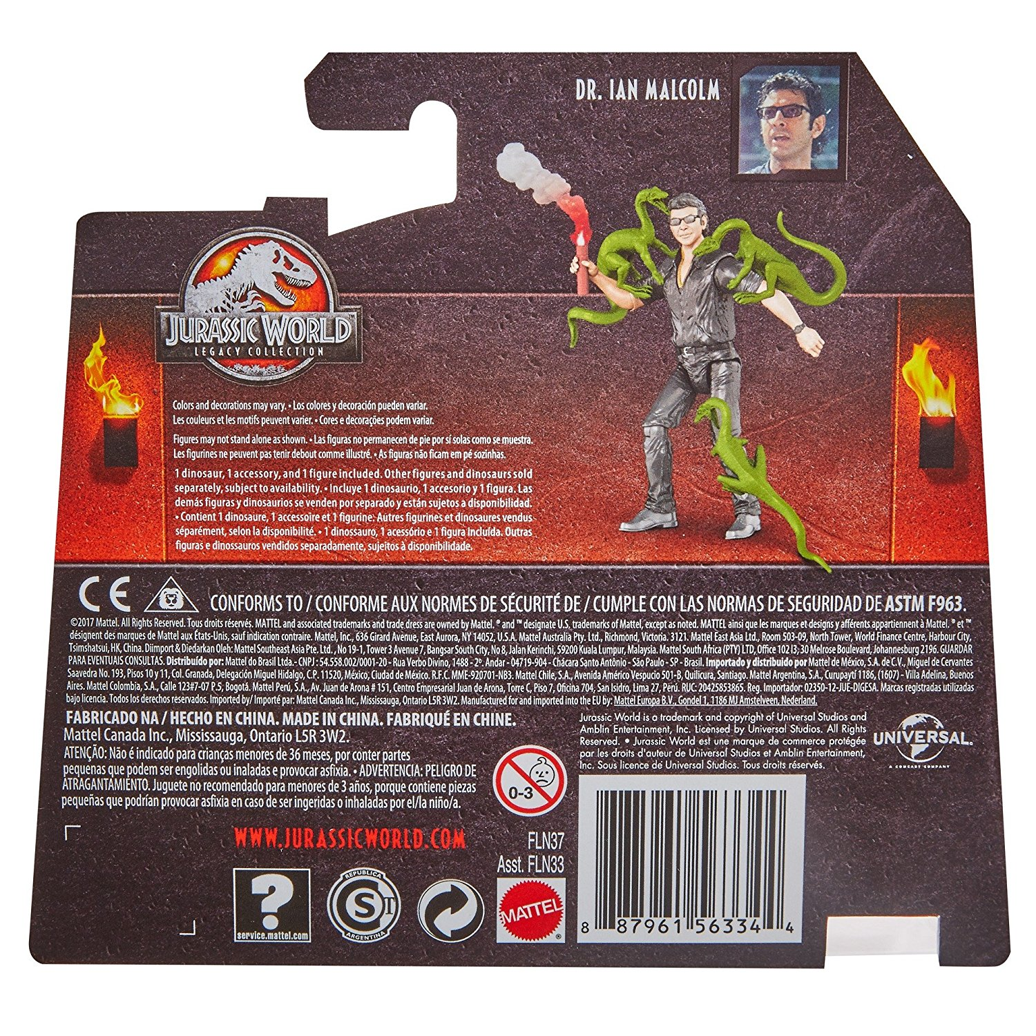 Alan Grant Legacy Collection Action Figures Ian Malcom /& Dr Jurassic Park Dr