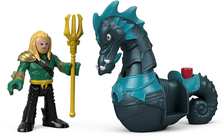 imaginext  Fisher Price Imaginext DC Super Friends Aquaman & Seahorse Figure ...