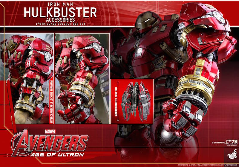 Hot Toys Hulkbuster Accessory Set Iron Man Mark XLIII Sixth Scale Figure Pre Orders