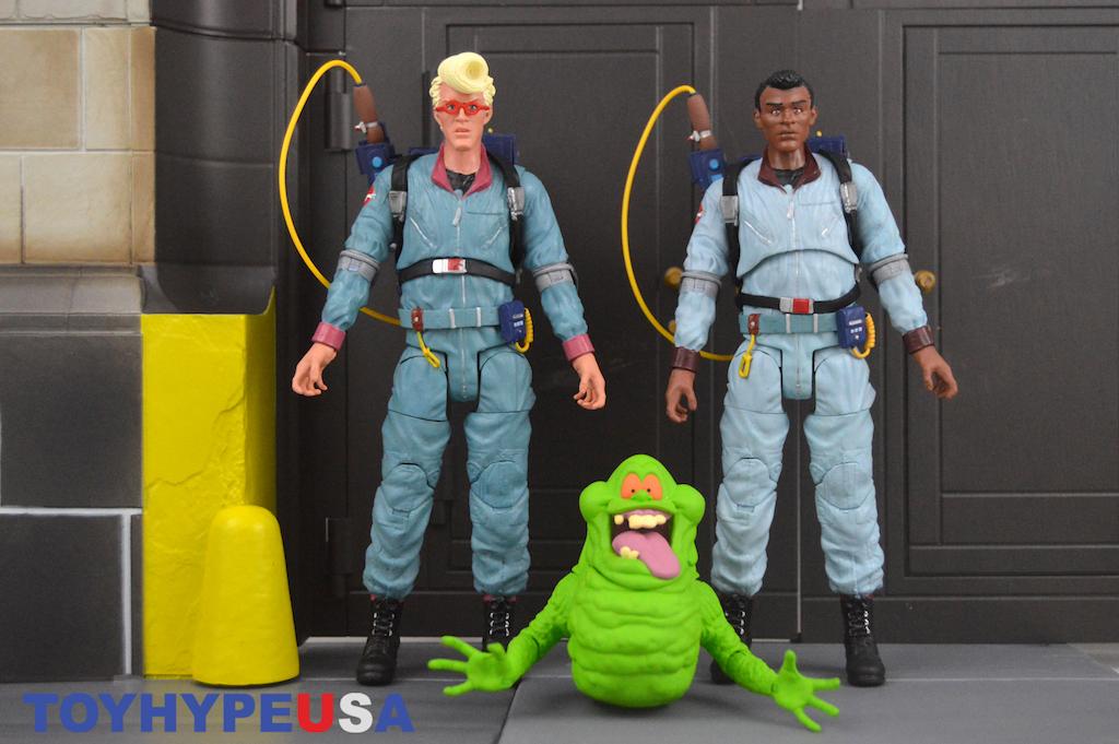 The Real Ghostbusters Select Series 9 Egon Spengler Winston Zeddemore Slimer Figures Review