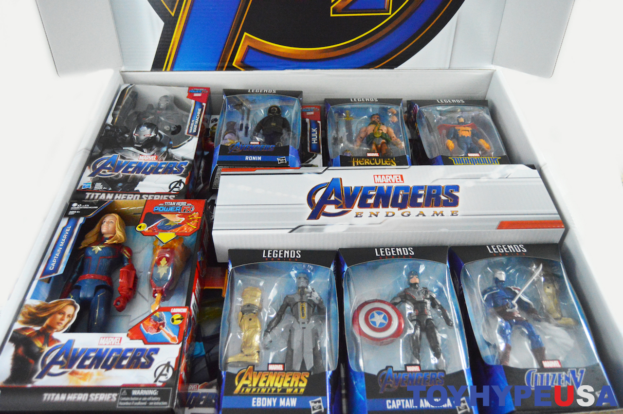 Hasbro Avengers: Endgame PR Box With New Figures & Roll Play
