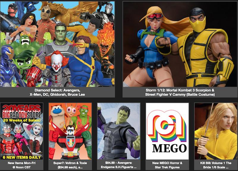 BigBadToyStore News - Diamond Select, Mortal Kombat, Street Fighter