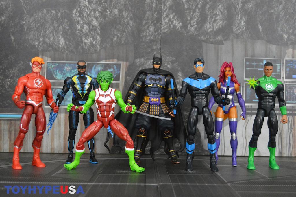 DC Multiverse Ninja Batman Wave Set 6 Starfire Nightwing Stewart Lightning West