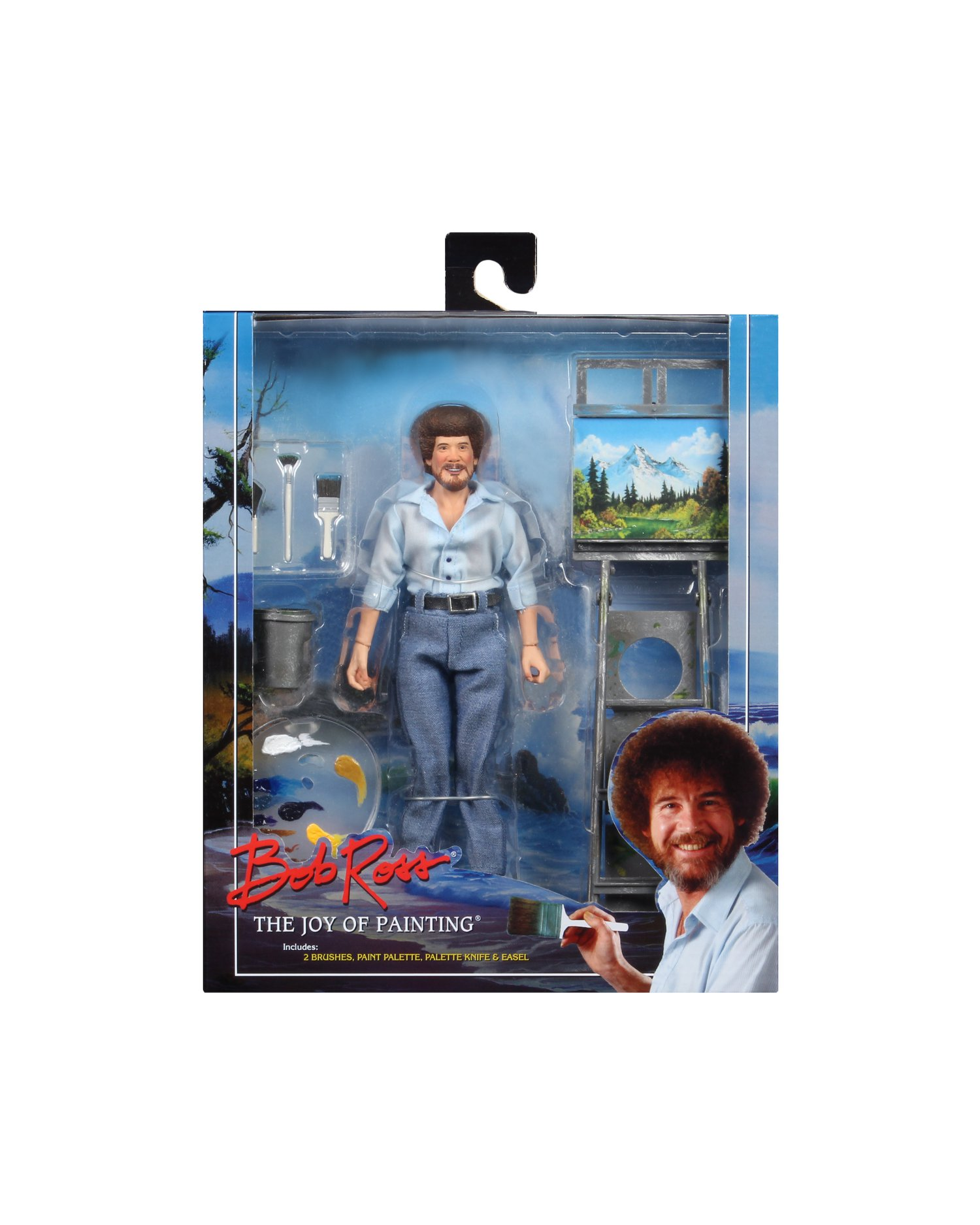 Neca Toys Bob Ross 8 Clothed Figure Available Now