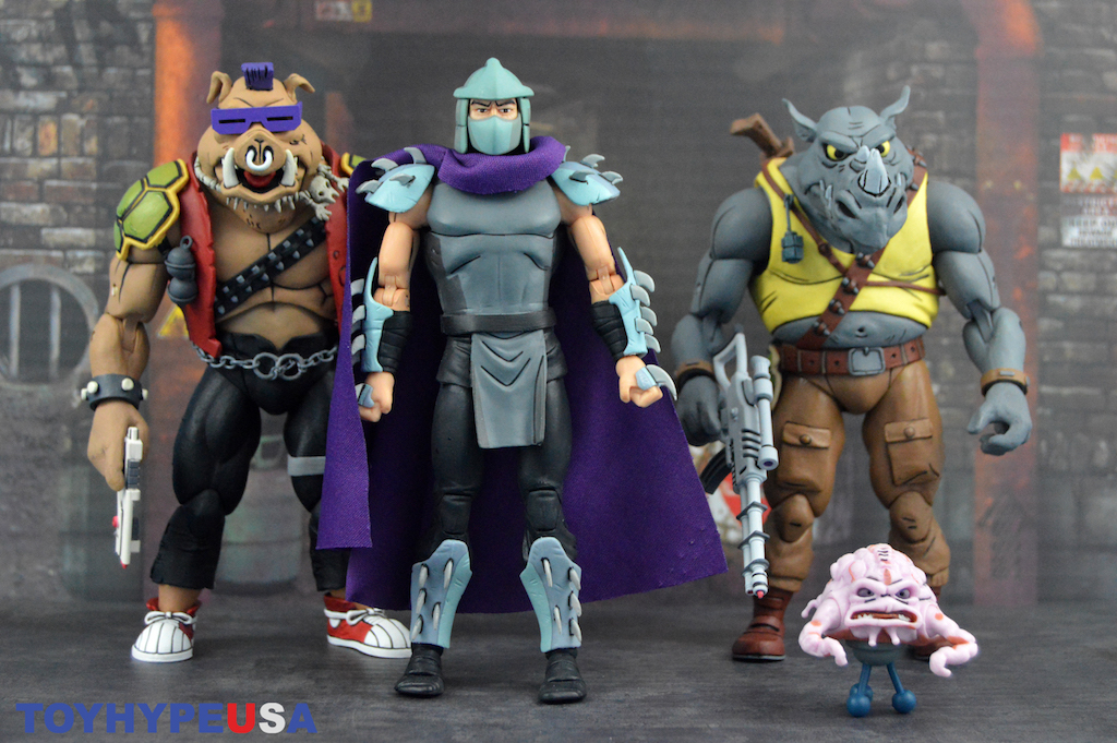 NECA TEENAGE MUTANT NINJA TURTLES CARTOON SHREDDER VS KRANG 2 PACK IN STOCK
