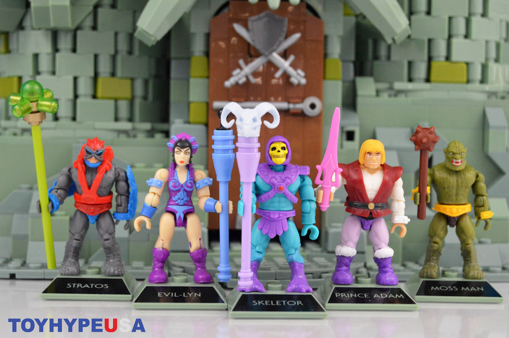 Mega Construx Masters of the Universe Adam Skeletor,Evil Lynn,Moss Man,Stratos