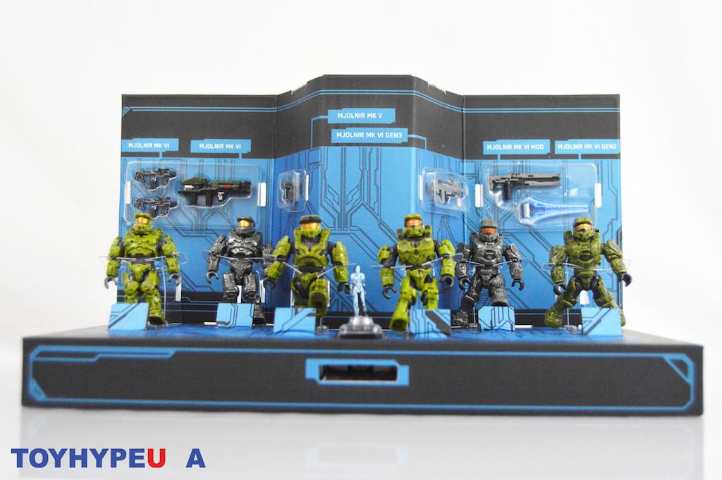 dans la main NEUF Mattel Halo Master Chief Collection Micro Set Figure San Diego comic-con 2020