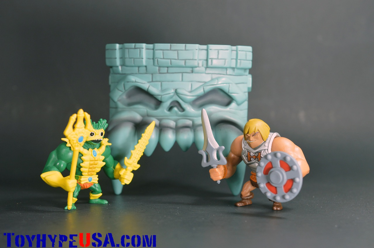 Masters Of The Universe Minis Battle Armor He-Man Vs. Mer-Man Review