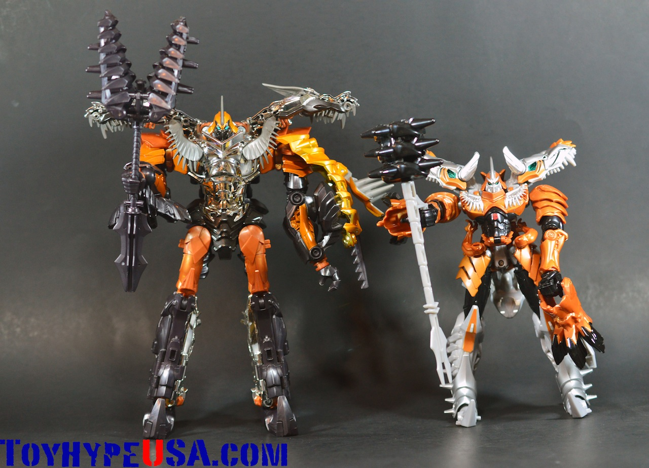 Transformers Age Of Extinction Leader Class Grimlock & Voyager Class Grimlock Review
