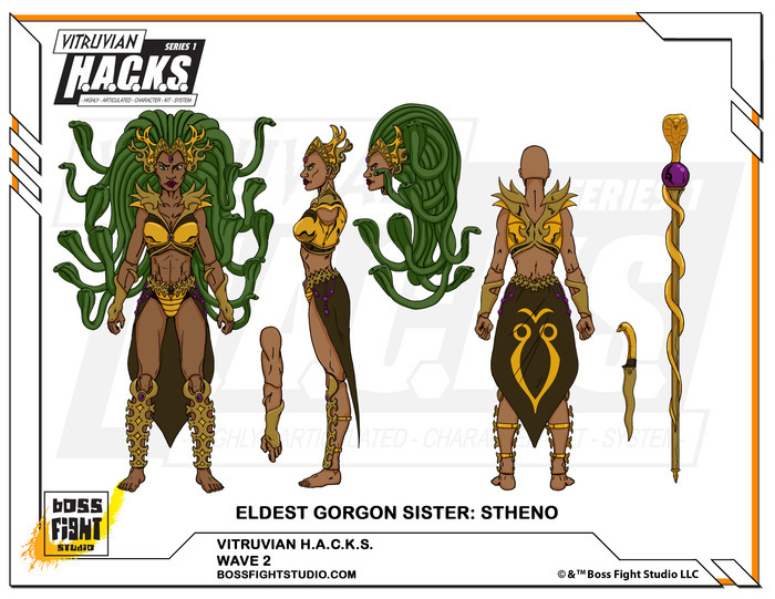 Boss Fight Studio Vitruvian H.A.C.K.S. Eldest Gorgon Sister: Stheno Prototype Images