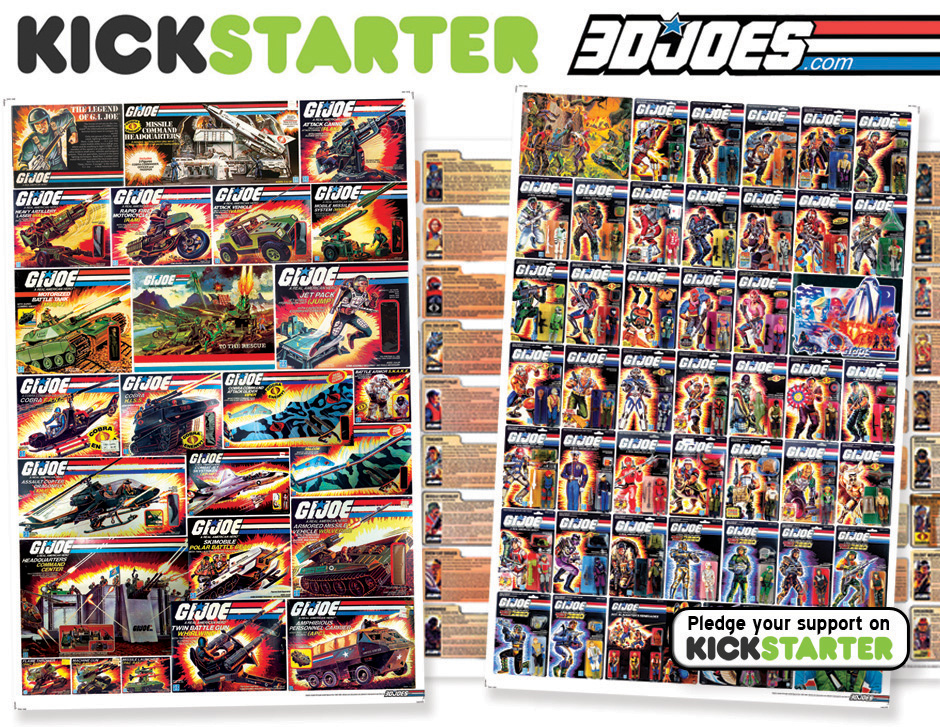 3DJoes Unlocks All Three Kickstarter G.I. Joe Posters