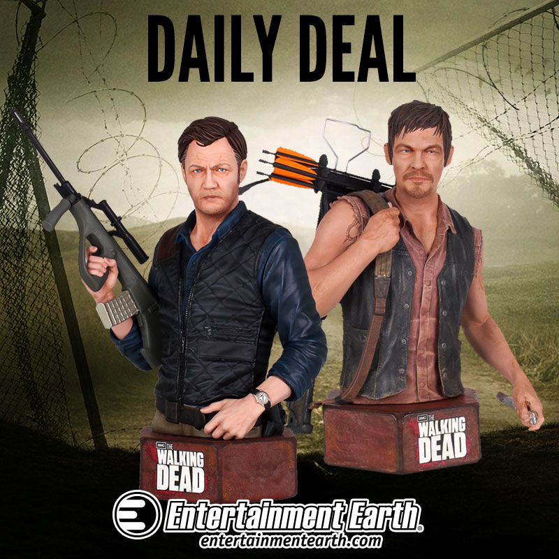 The Walking Dead Mini-Busts Daily Deal – 33 Percent Off At Entertainment Earth