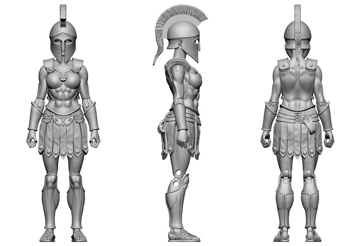 Boss Fight Studio Vitruvian H.A.C.K.S. Amazon Warrior Digital Sculpt Images