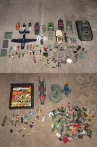 GI Joe Parts, Figures, Weapons and Accessories Lot