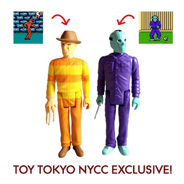 NYCC 2014 Exclusive Toy Tokyo 8-Bit Freddy And Jason ReAction Figures