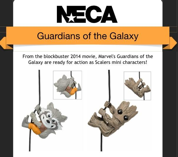 NECA Guardians Of The Galaxy Scalers Figures Revealed