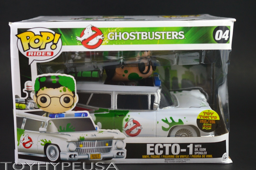 NYCC 2014 Exclusive Toy Tokyo Ghostbusters Slimed Egon & Ecto-1 Pop! Vinyl Figure Review