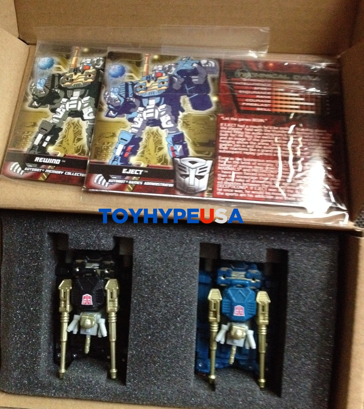 Transformers Collectors' Club FSS 2.0 Eject And Rewind Figures Now Shipping