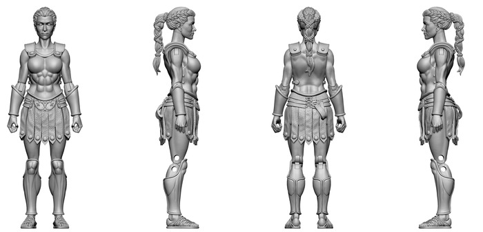 Boss Fight Studio Vitruvian H.A.C.K.S. Tartarus Guard Final Sculpt Images