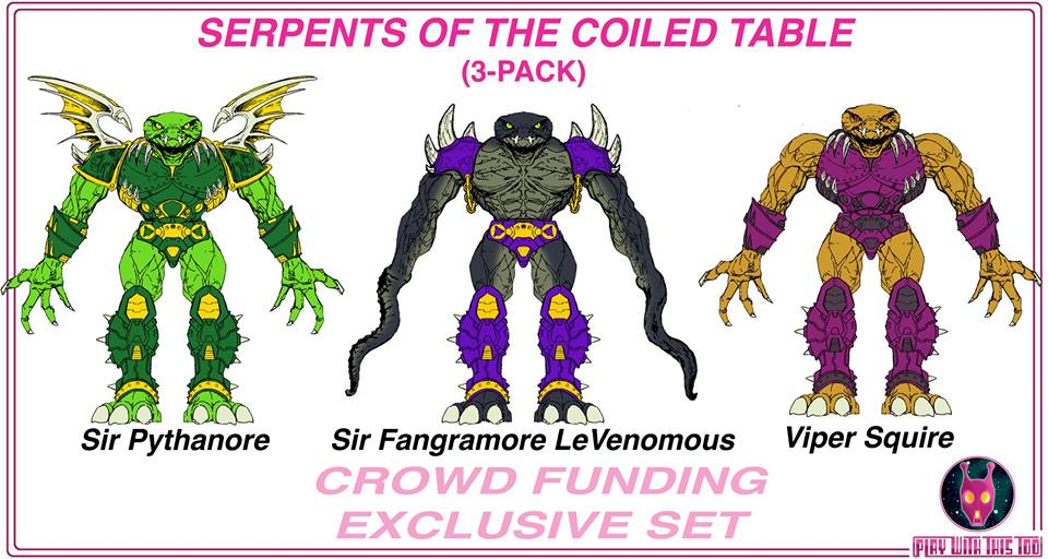 Play With This Too Announces The Mysterious Serpents Of The Coiled Table 3 Pack
