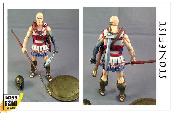 Boss Fight Studio's Vitruvian H.A.C.K.S. Stonefist Painted Sample Images