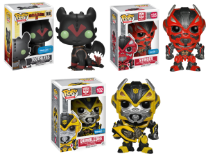 Funko Announces Wal-Mart Exclusives Stinger, Bumblebee and Toothless With Racing Stripes