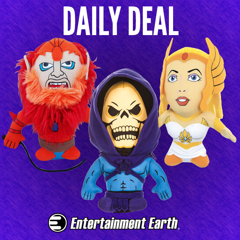 Entertainment Earth Update – Masters Of The Universe Plush Figures Up To 65% Off