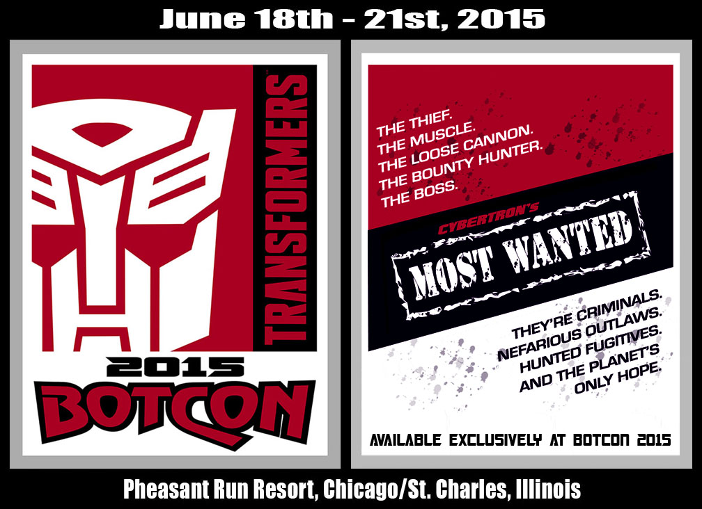 BotCon 2015 Theme Revealed – Cybertron's Most Wanted!