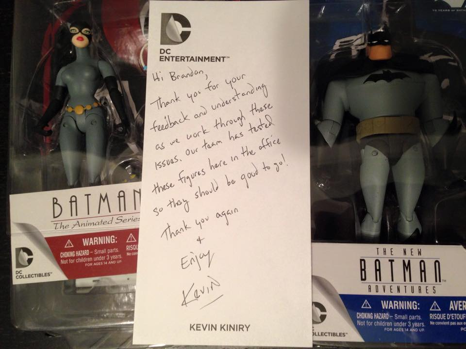DC Collectibles Sends Out Replacement Products For Defective Batman: The Animated Series Figures