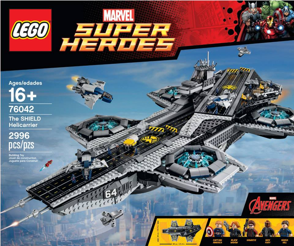 LEGO Marvel Super Heroes The SHIELD Helicarrier 76042 Official Images