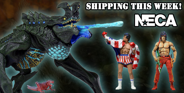 NECA Shipping This Week – Pacific Rim Deluxe Otachi, Rocky & Rambo Video Game Action Figures