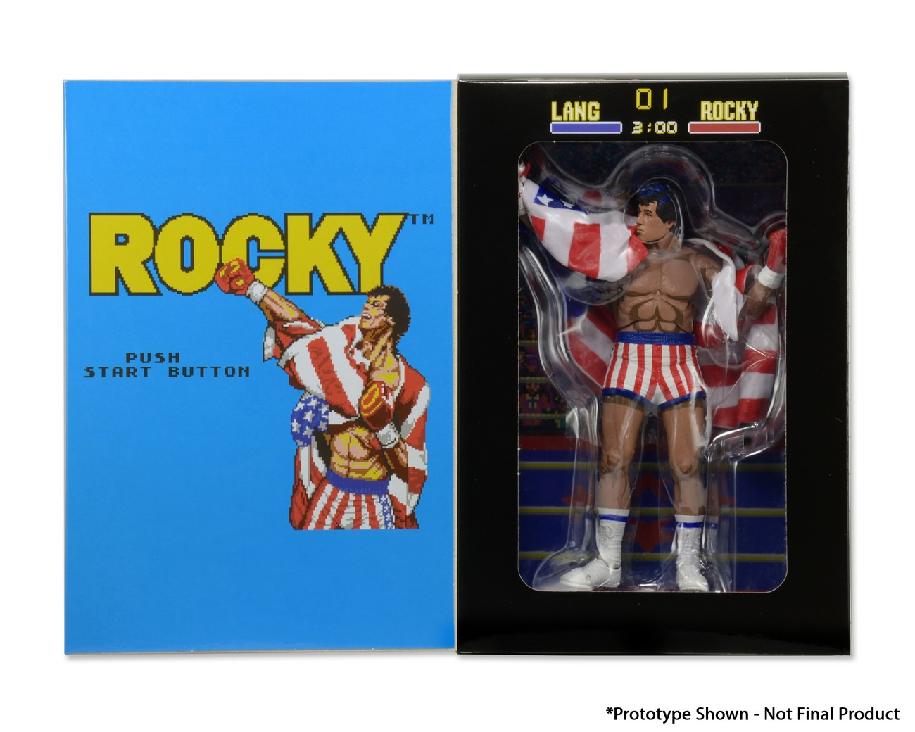 NECA Closer Look: 8-Bit Rocky Classic Video Game Appearance 7″ Action Figure